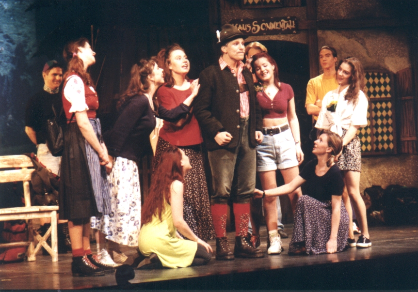 Lehrer Oberkofler und seine Schülerinnen