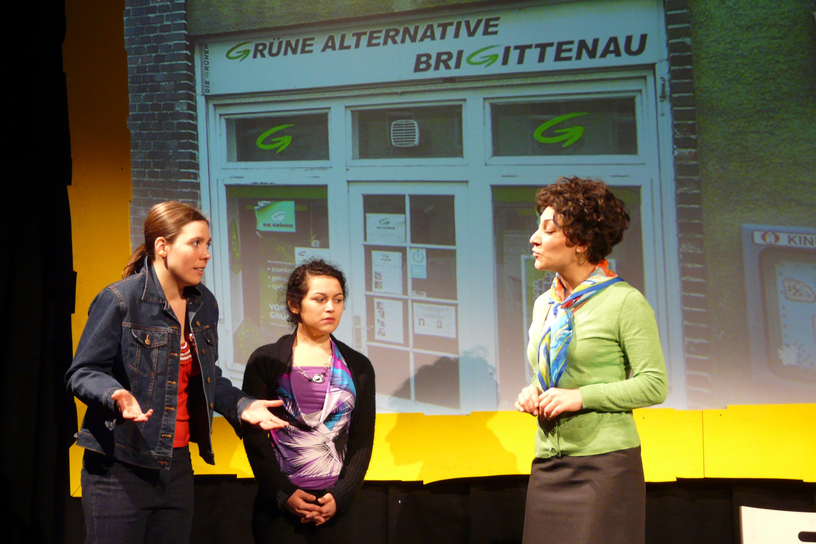 Cennet und Jasna besuchen Alev Gürün, Die Grünen Brigittenau