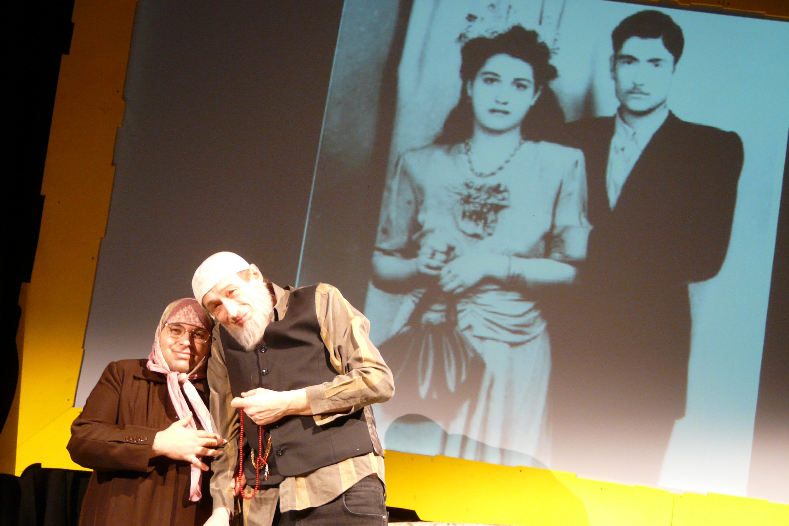 Fatima mit ihrem Mann Timur
